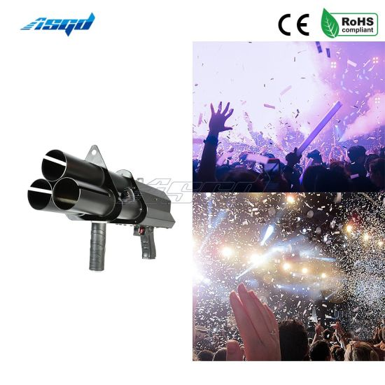 3 Heads Electronic Salute Gun Stage Effect Confetti Cannon pictures & photos