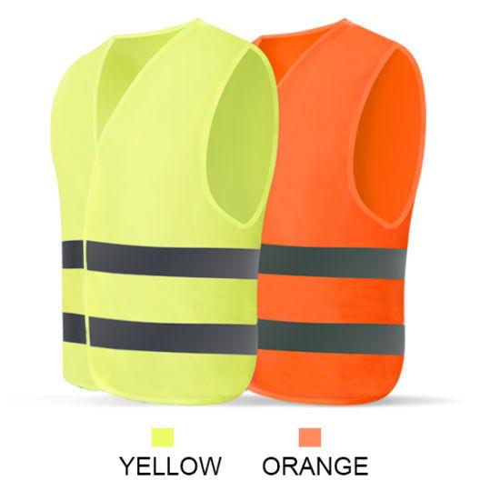 Reflective Safety Security Vest with Customized Reflective Tape 2020 Hot Sales Traffic Safety Vest
