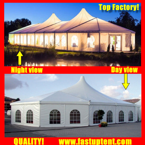 China Manufacturer High Peak Mixed Marquee Tent for Real