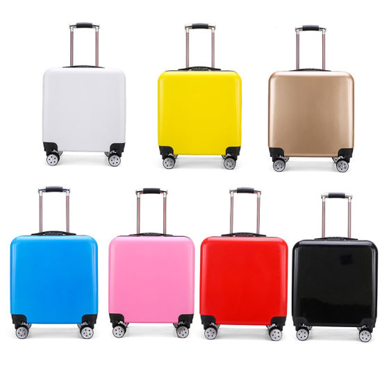 "20 ""School Suitcase Silent Universal Wheel Boarding Luggage Logo Can Be Customized pictures & photos"