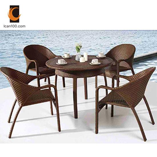 Uv Resistant Modern Garden Patio, Wicker Rattan Dining Room Chairs