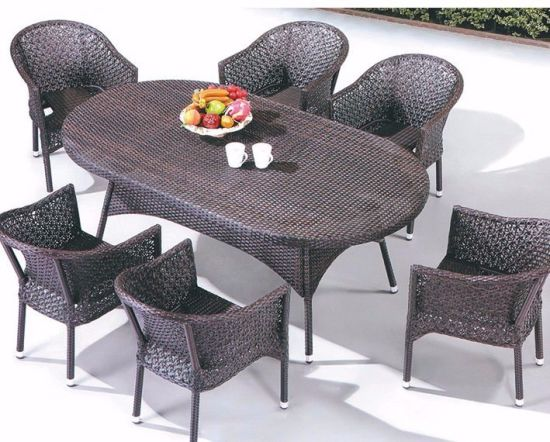 New Item Modern Design Outdoor Wicker Furniture Table and Chairs