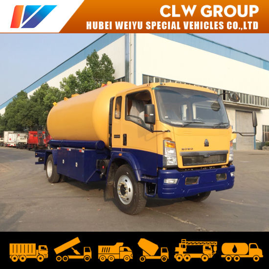 15000liters HOWO 160HP LPG Gas Delivery Truck 7tons LPG Bridger Truck for Bangladesh