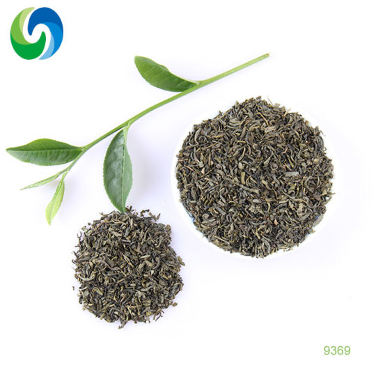 Chinese Well Tea Brands Organic Slimming Green Loose Leaf Tea 9369 Fanning