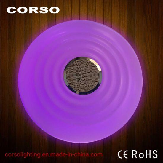 WiFi RGB+WY Bluetooth Speaker LED Ceiling Lamp, Remote, APP, AI, CCT, SGS CE EMC LVD for Smart Home Lighting (Alexa, Google home) Indoor,Flicker free Light