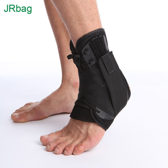 Factory Lace up Adjustable Support Ankle Brace for Sport Running Basketball Injury Recovery Sprain 3 Sizes for Men Women