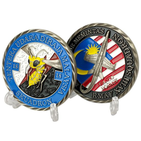 Custom Metal Art Crafts Military Police Us Flag Souvenir Coins Soft Enamel Corporate Travel Gift Challenge Tokens Collectors Company Personalized Gift Coin
