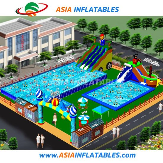 Ground Inflatable Water Amusement Park Slide and Pool for Sale pictures & photos