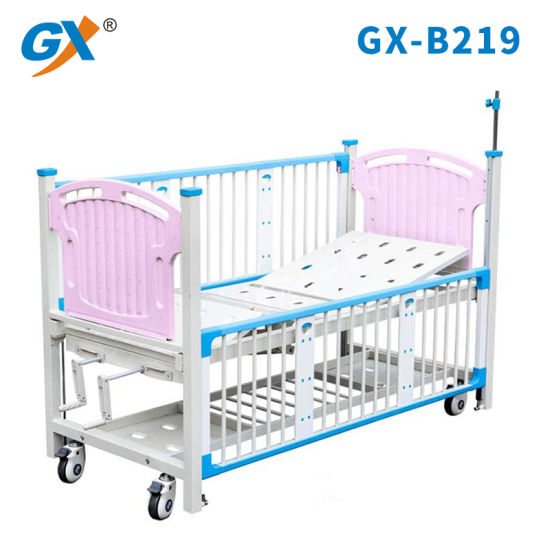 Double Crank Hospital Furniture Home Care Bed for Children