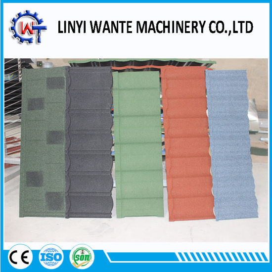 Building Material Stone Coated Metal Roman Roofing Tile