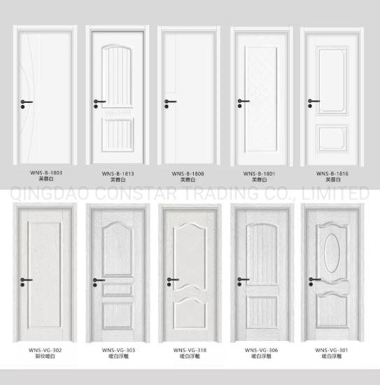 China White Special Design Simple Office Carved Interior Wood Glass Bedroom Door China Class Room Door Bathroom Door