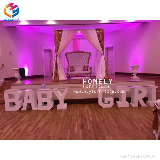 China Party Decoration Dining Table Baby Love Wedding Letter Table