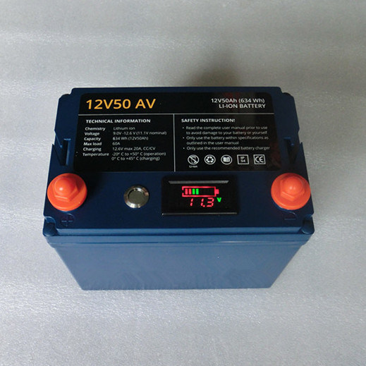 High-End Lithium Battery Pack 12V50ah for Storage and Power