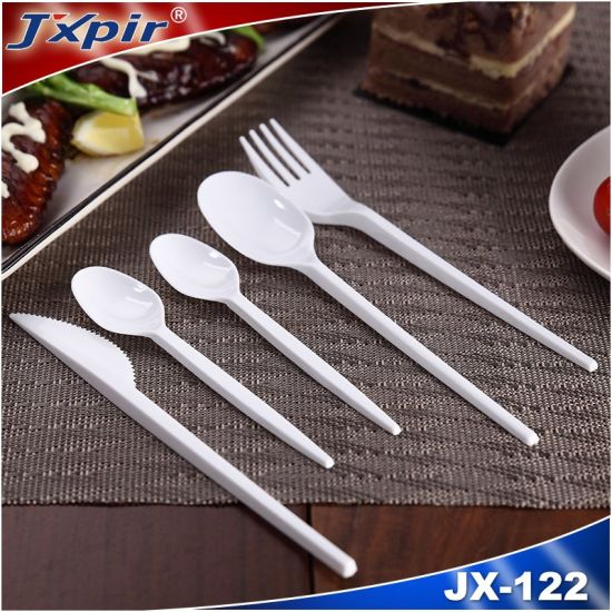 Clear White Disposable Plastic Cutlery pictures & photos