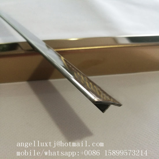 Customized Stainless Steel T Shape Tile Trim Marble Border Metal