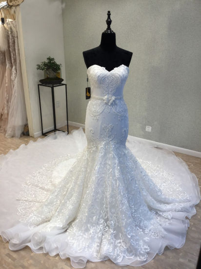Lace Mermaid Evening Dresses Bridal Gown Wedding Dress pictures & photos