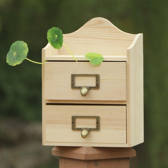 Home Storage Mini Drawer Storage Jewelry Vintage Mni Cabinet Wood Chest