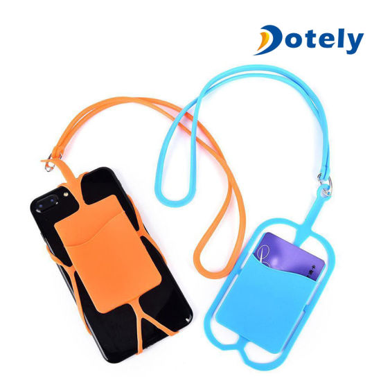 Cell Phone Silicone Pocket Wallet Case Credit ID Card Holder