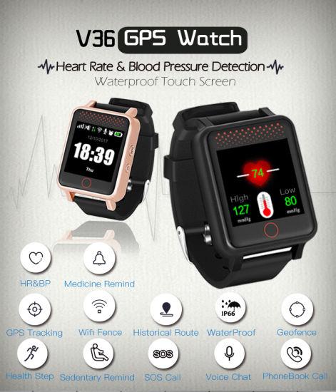 China RF-V36 GPS Watch GPS Tracker GPS Lbs WiFi Tracking