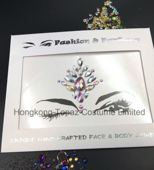 Hongkong topaz supplier professional skin safe eye stickers face tatto stickers e41