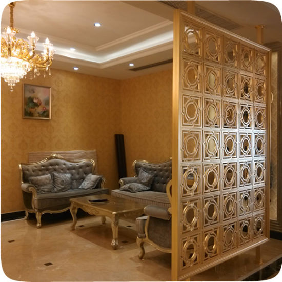 China Custom Decorative Metal Restaurant Room Soundproof Dividers