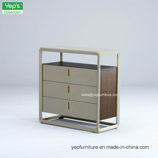 Aluminum Metal Frame Modern Fashion Side Cabinet Living Room Sideboard (YR209)