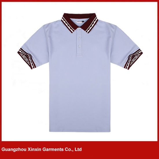 Long Sleeve Good Quality Cotton Polyester Polo Shirts Manufacturer (P49) pictures & photos