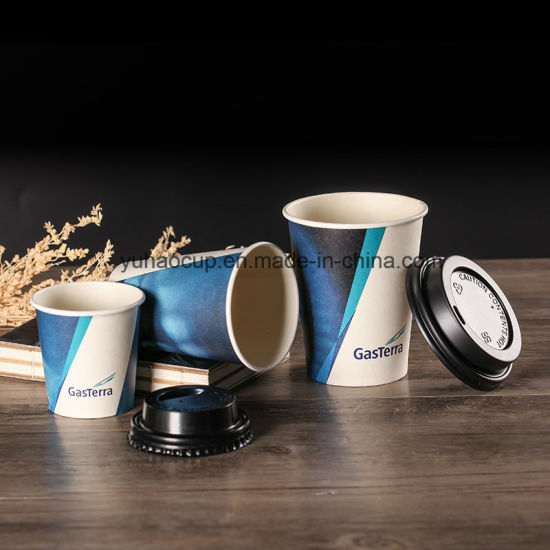 Wholesale Disposable Single Coffee Cup Hot Drink Paper Cup