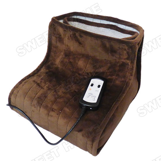Body Care Electric Kneading Feet Warmer Shoes Thermal Shiatsu Foot Massager pictures & photos