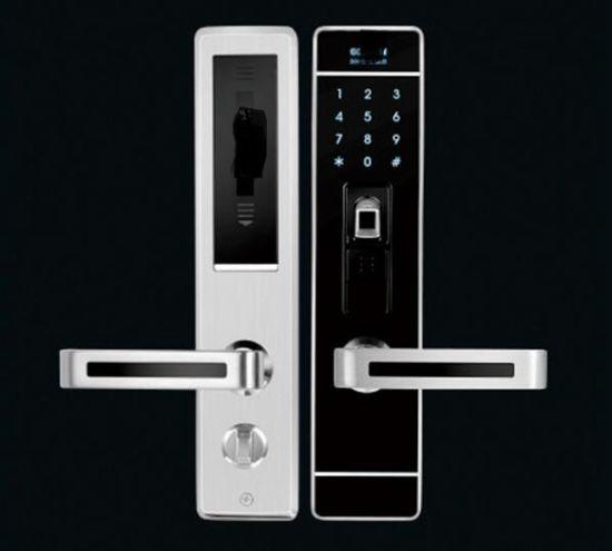 Homes/Office Gate Door Handle Password Card Swipe Fingerprint Lock & China Homes/Office Gate Door Handle Password Card Swipe Fingerprint ...