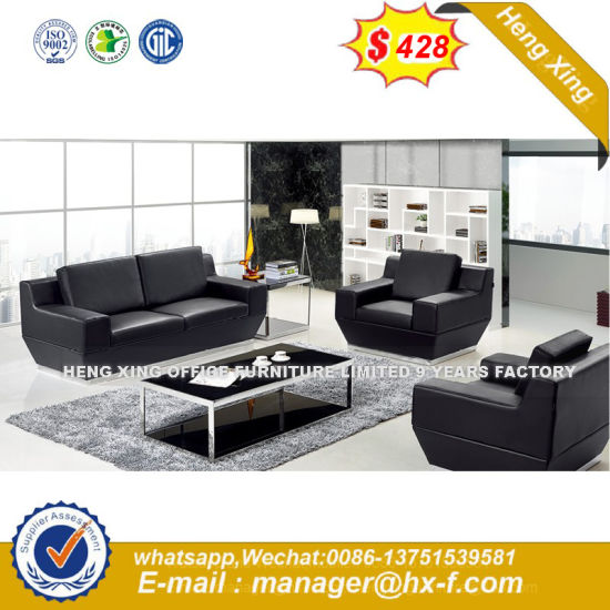 Modern Leather Leisure Sofa Wooden Frame Hotel Sofa (HX-S239) pictures & photos