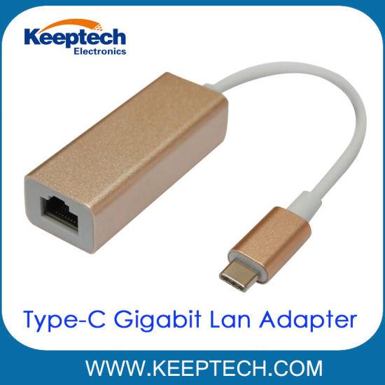 China USB 3.1 Type-C (USB-C) to RJ45 Gigabit Ethernet Network LAN ...