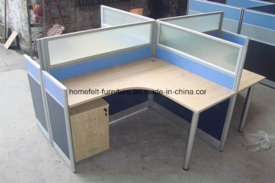 Customized Desk Office Workstation Cubicle With Side Cabinet