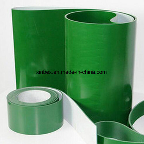 2mm Ply Green Flat PVC Conveyor Belts for Electronic/Package Factory/Distributor pictures & photos