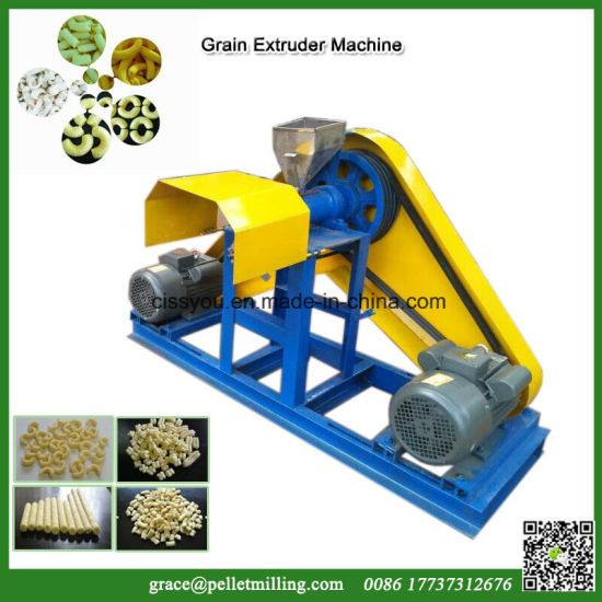 Chinese Rice Corn Flour Powder Puffed Snack Food Extruder Machine pictures & photos