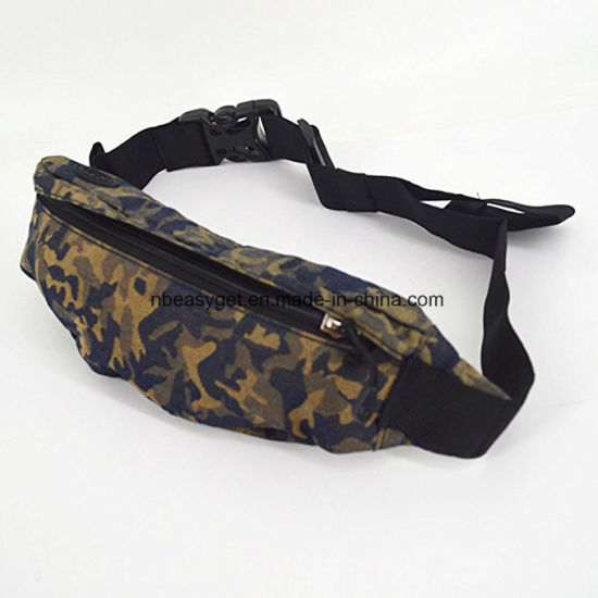 Camouflage Fanny Pack Waist Bag Running Belt Purse Pouch for Cell Phone Holder with Zipper Hiking Cycling Hunting Esg10518