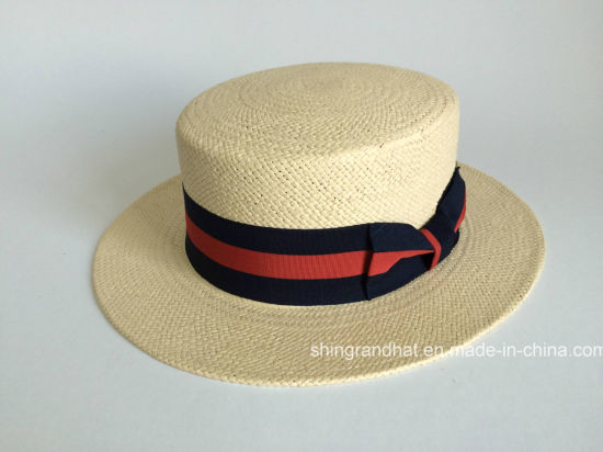 China Panama Paper Straw Boater Hat - China Boater Hat c049f3de684d