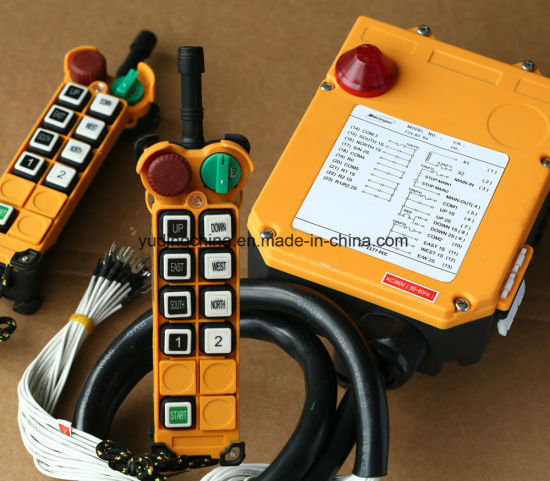2 Transmitters 8 Channels Hoist Crane Radio Remote Control System pictures & photos