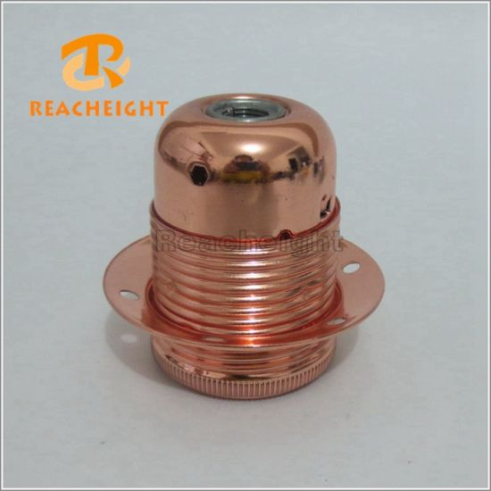 E26 E27 Lamp Socket Metal Iron Light Bulb Holder pictures & photos