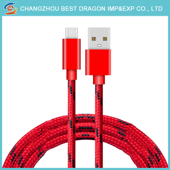 Red Color : Red ZhiYuan Type-C Luminous Charging Data Cable