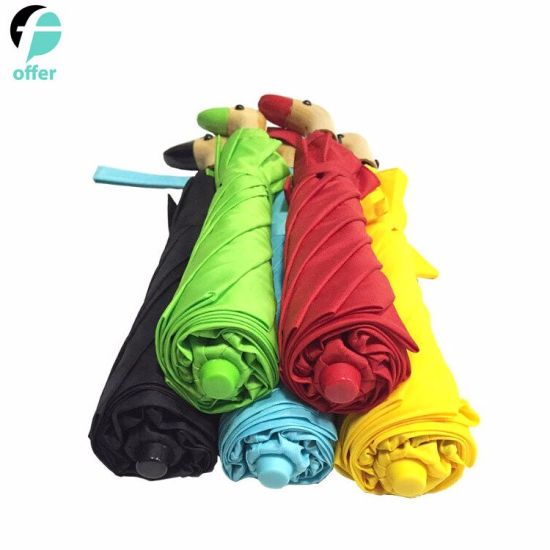 Compact Fashion Duck Handle Wooden Umbrella pictures & photos