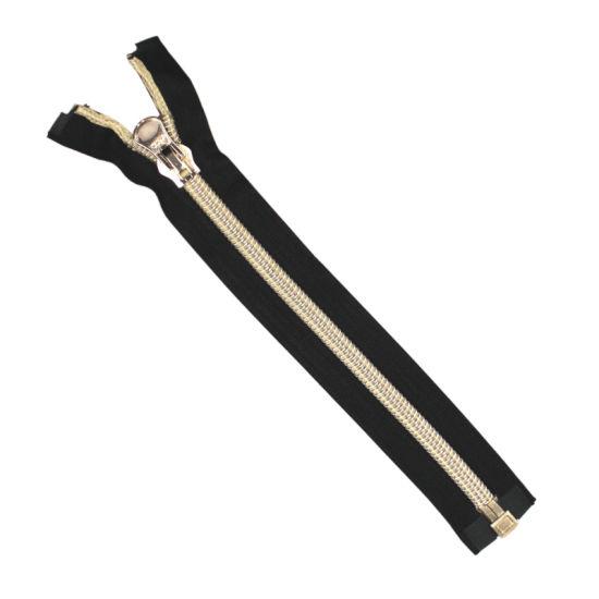 Custom #10 Nylon Zipper Auto Lock Open End Golden Teeth