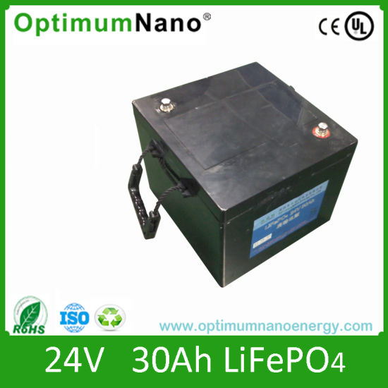 Pack 24V 30ah LiFePO4 Li-ion Battery for Car Engine Starter pictures & photos