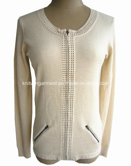 92a1cad0805a9a China Ladies′ Fashion Cashmere Cardigan Sweater with Zipper (16-029 ...