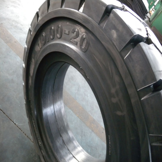 Anti-Static Solid Forklift Tire 11.00-20, Heavy Duty Forklift Tire pictures & photos