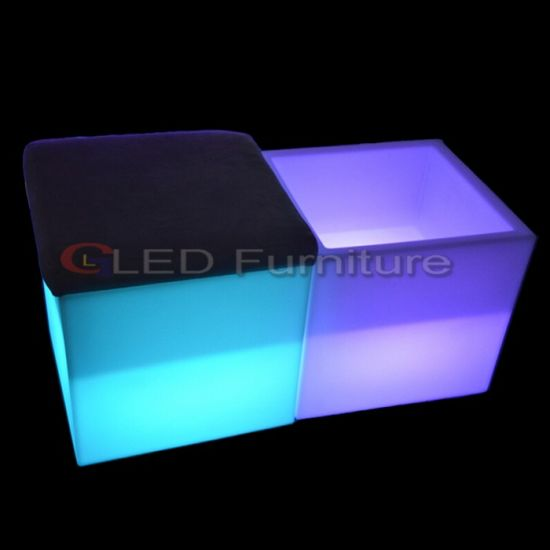 Lounge Furniture LED Cube Chair