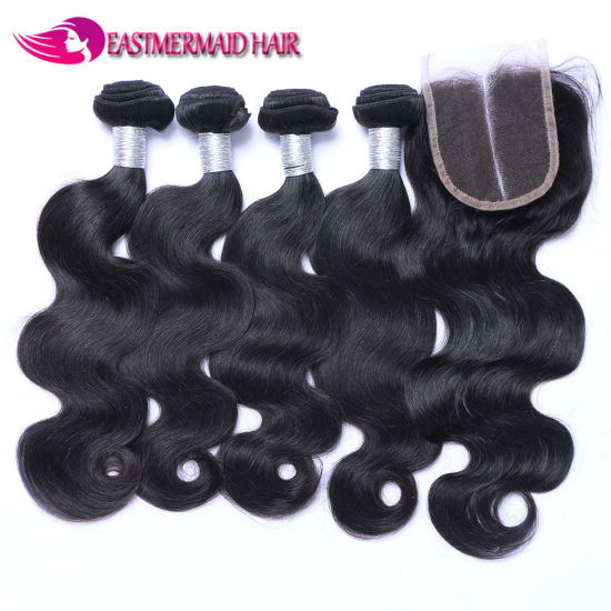 100%Human Remy Hair Malaysian Body Wave Curtain pictures & photos