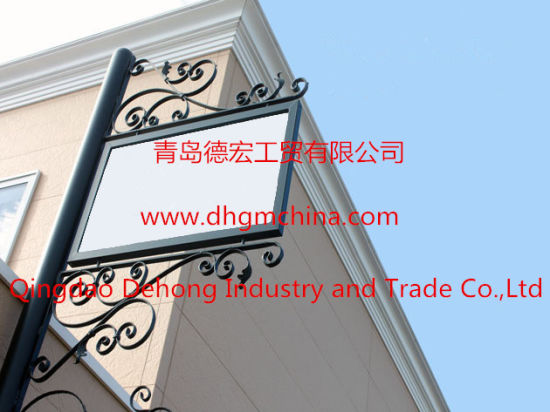 Small Ornamental Iron Steel/Aluminium Advertising Billboard