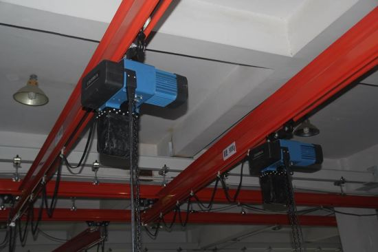 3m/M6 250kg European Electric Chain Hoist with Monorail Trolley pictures & photos