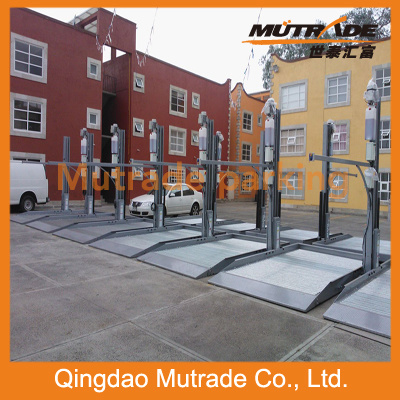 Advanced Double Deck Parking/ Two Post Carport/ 2 Storey Car Stacker Parking Lot pictures & photos